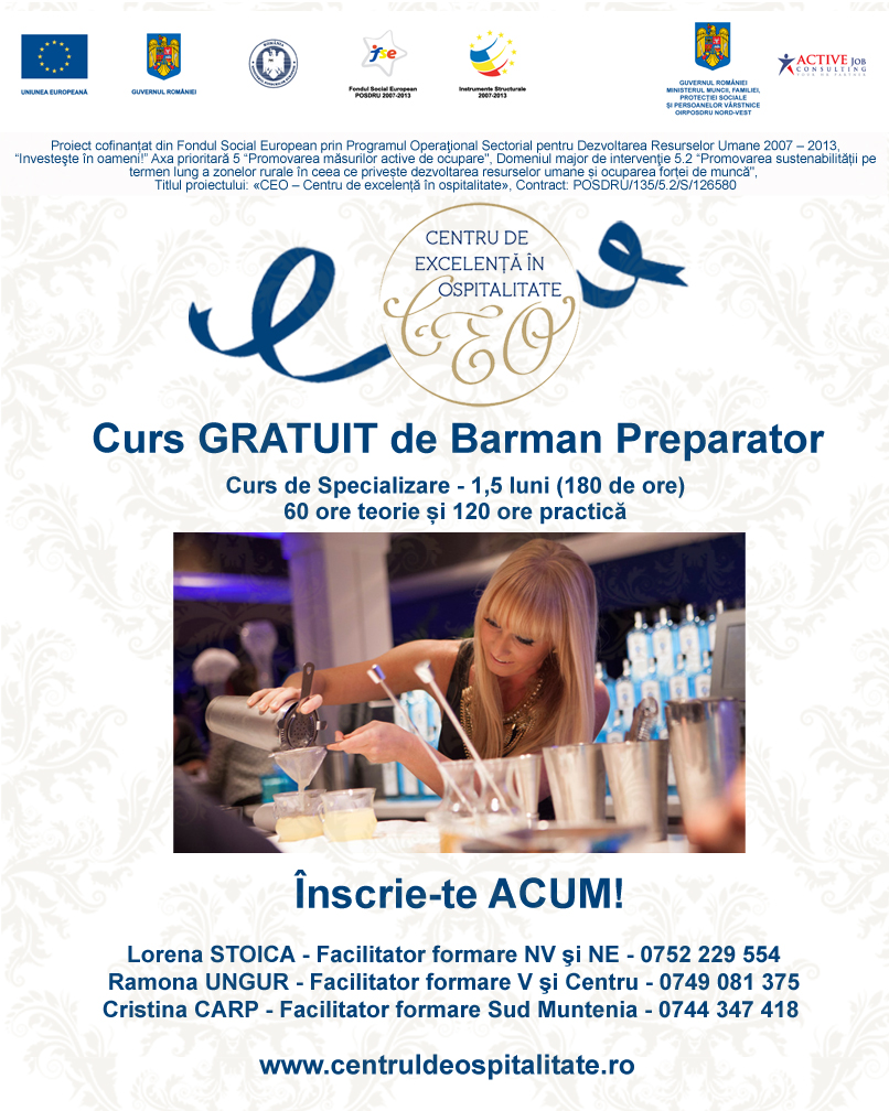 imagine promo curs Barman preparator
