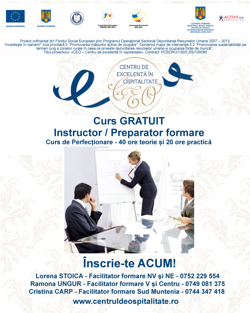 imagine promo instructor preparator formare