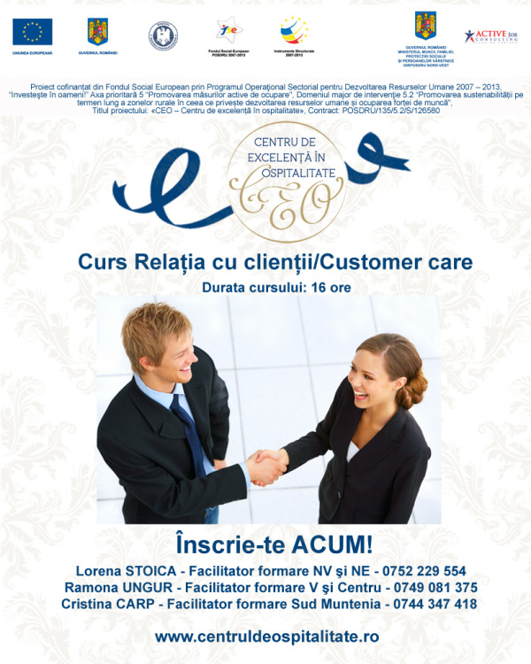 imagine promo curs Customer care