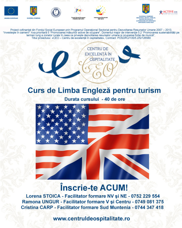 imagine promo curs Limba engleza pt turism