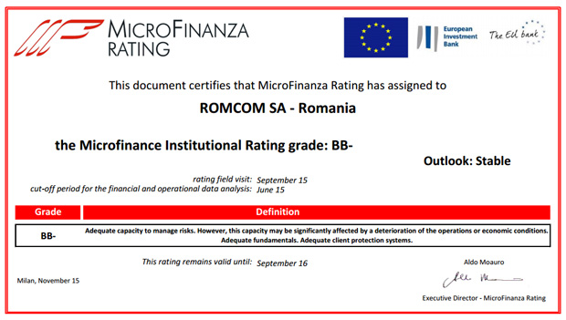 Microfinanza rating romcom ifn